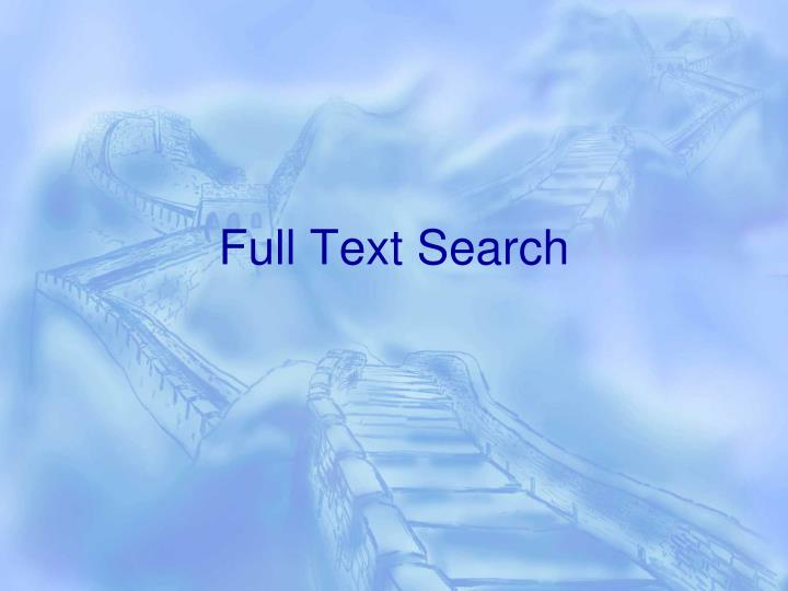 full text search n.
