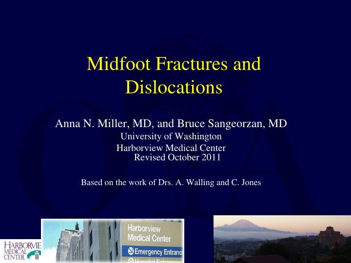 midfoot fractures and dislocations n.