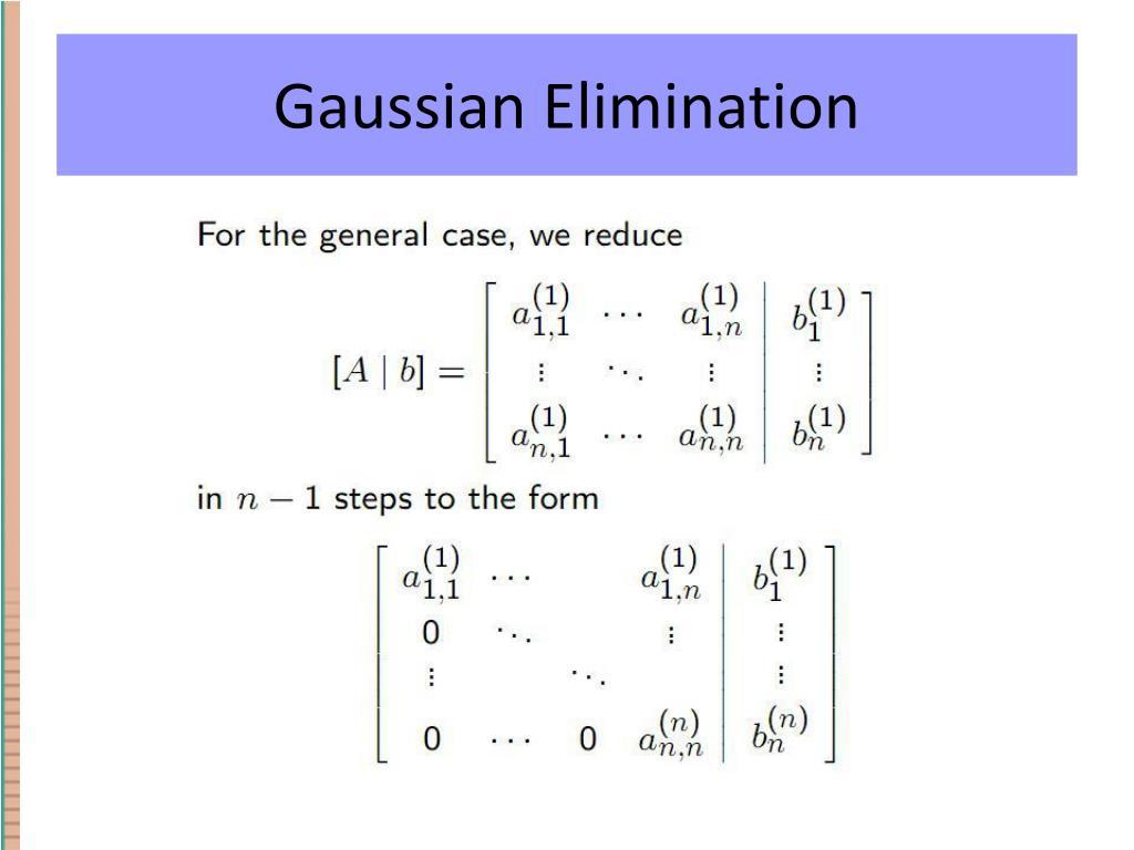 Gaussin Eliminaatio