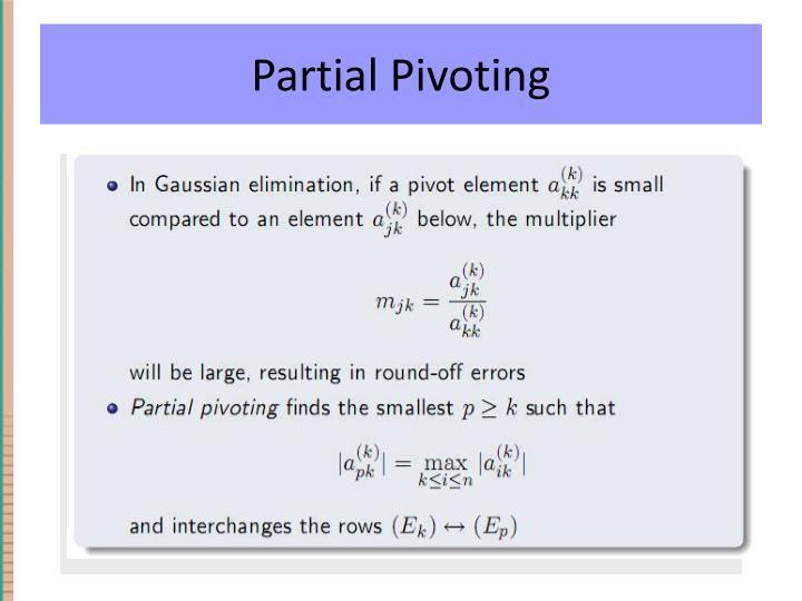 Partial Pivoting