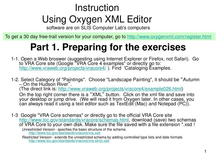 part 1 preparing for the exercises n.