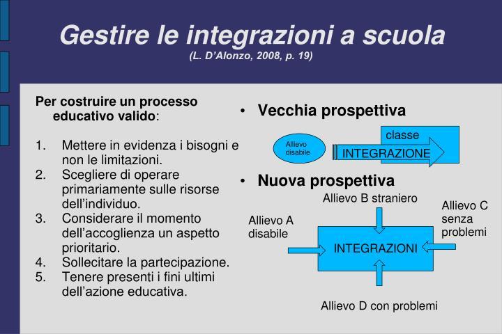 Gestire le integrazioni a scuola