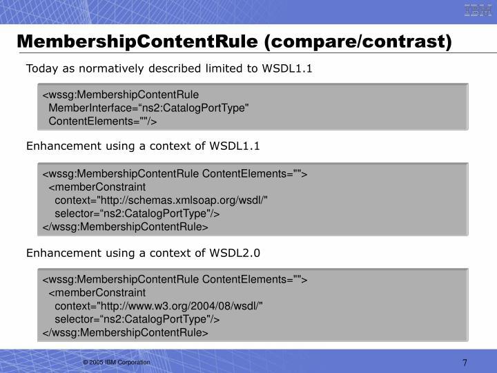 MembershipContentRule (compare/contrast)