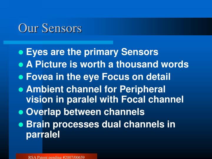 Our Sensors