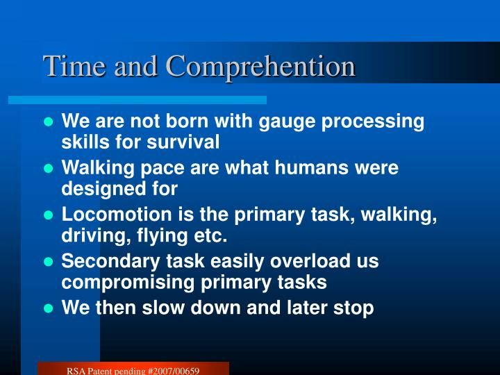 Time and comprehention