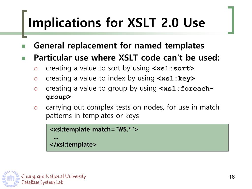 Ppt What S New In Xslt 2 0 Powerpoint Presentation Free