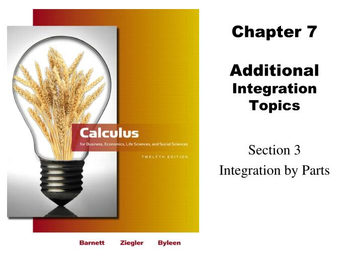 chapter 7 additional integration topics n.