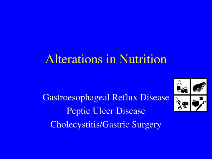 alterations in nutrition n.