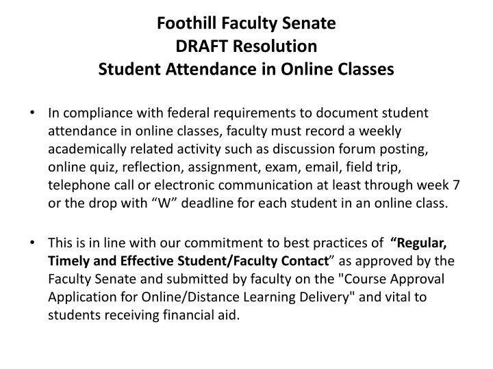 Foothill Faculty Senate