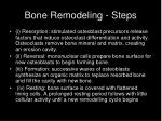 bone remodeling steps