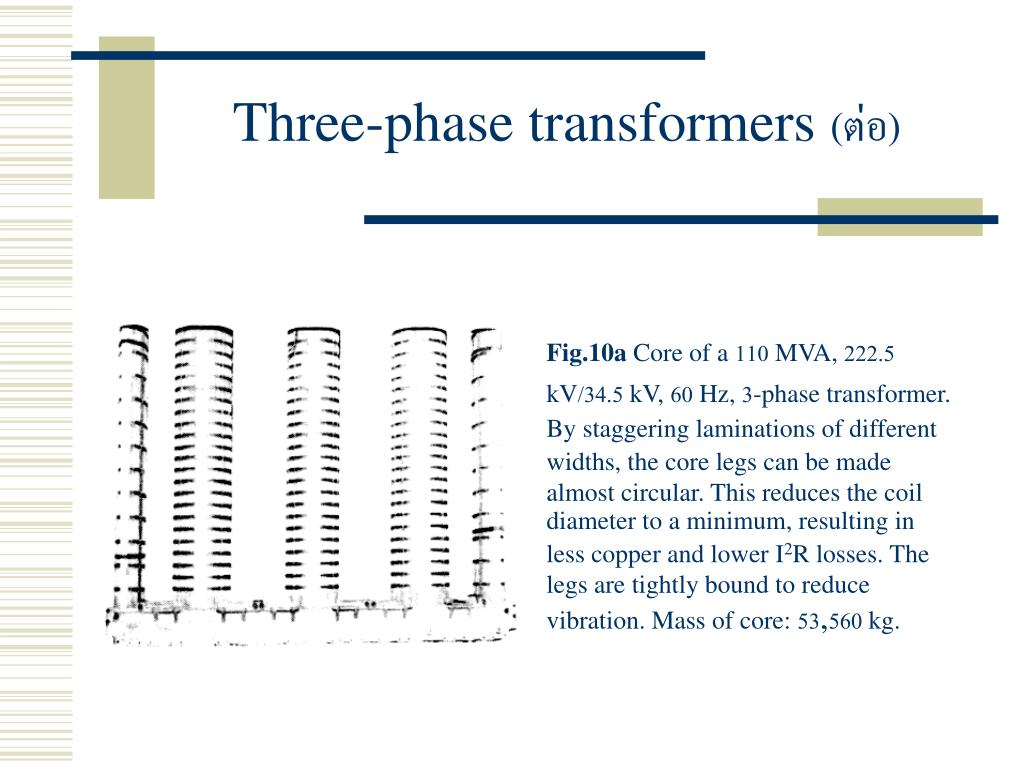 PPT - บทที่ 7 Three-phase Transformers PowerPoint