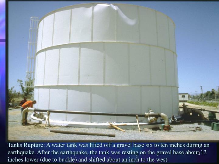 Tanks Rupture: