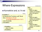 where expressions