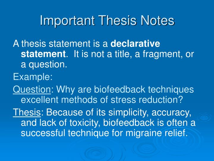 disintegrating thesis notes Thesis/dissertation - apa reference list capitalization the document title is in sentence case the title of the thesis or dissertation is in title case - each word in the name is capitalized, except for.