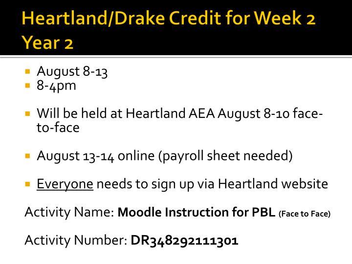 Heartland/Drake Credit for Week