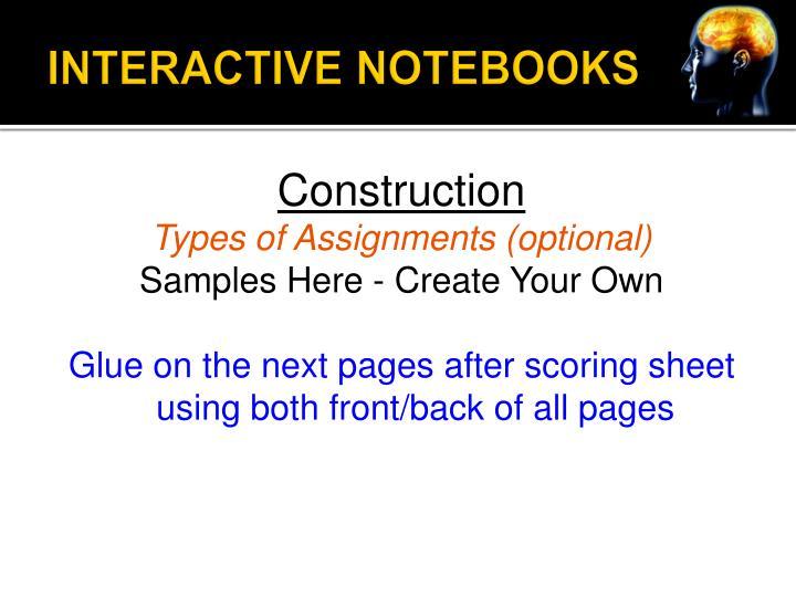INTERACTIVE NOTEBOOKS