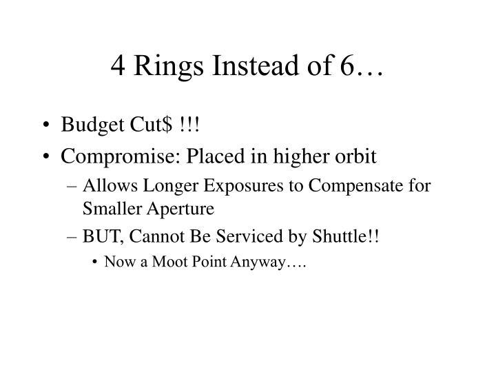 4 Rings Instead of 6…
