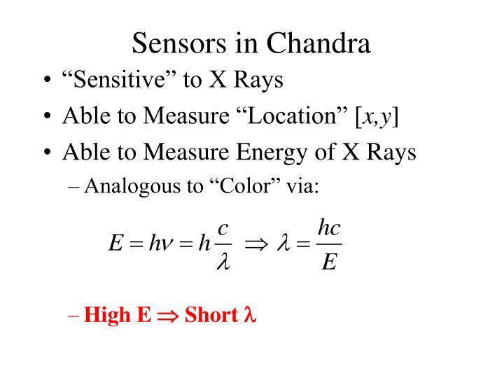 Sensors in Chandra