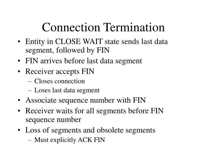 Connection Termination