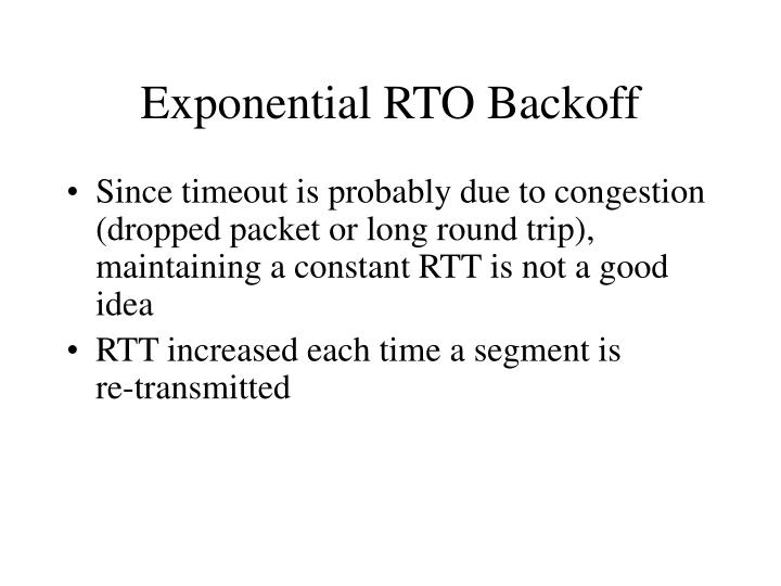 Exponential RTO Backoff