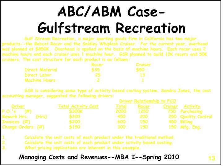 ABC/ABM Case-