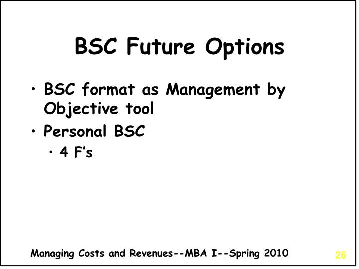 BSC Future Options