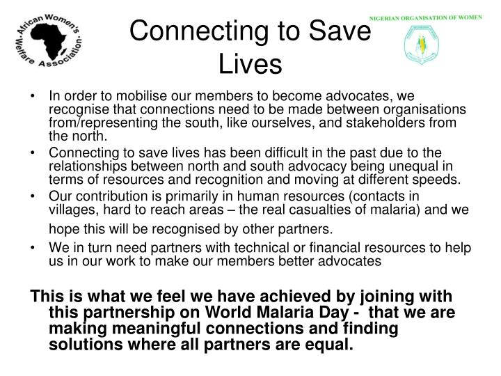Connecting to Save