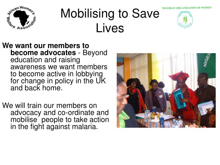 Mobilising to Save