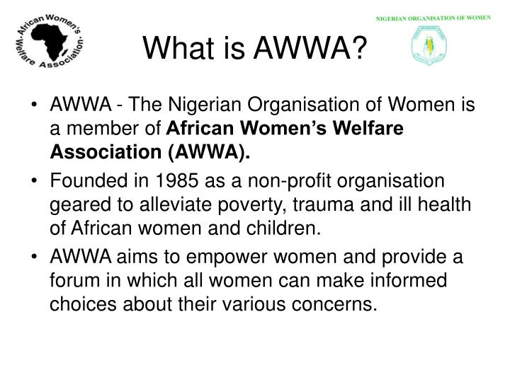 What is AWWA?