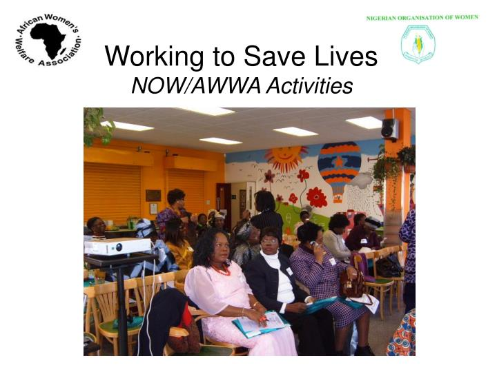 Working to Save Lives
