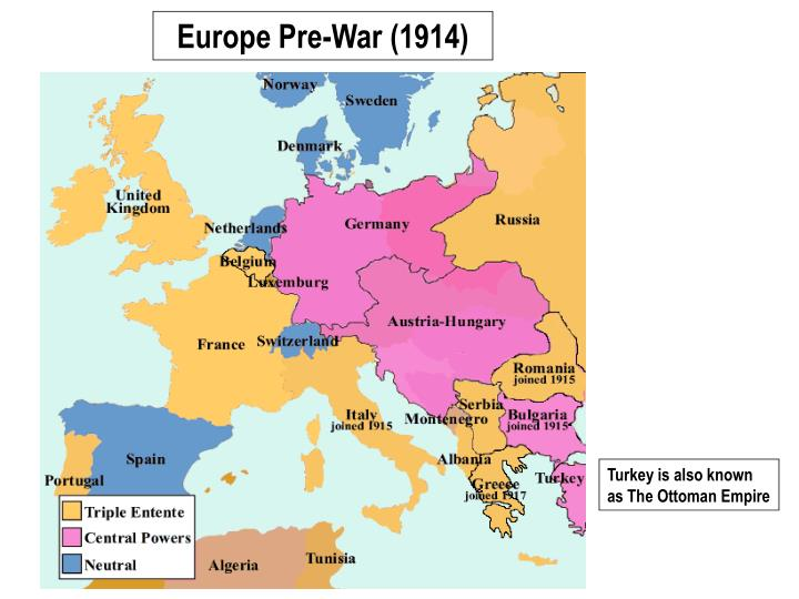 Europe Pre-War (1914)