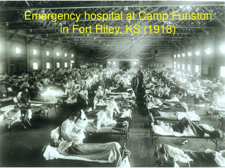 Emergency hospital at Camp Funston in Fort Riley, KS (1918)