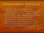 economic benefits wind energy