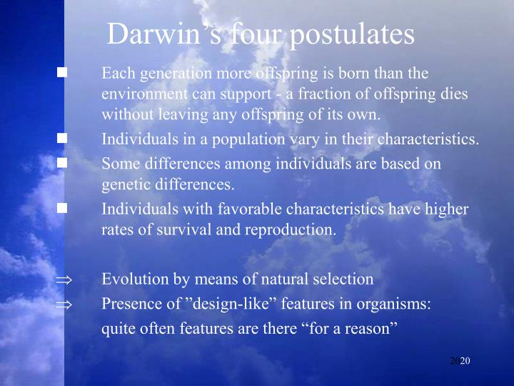 Darwin's four postulates