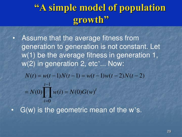 """""""A simple model of population growth"""""""