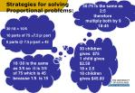 strategies for solving proportional problems