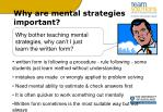 why are mental strategies important