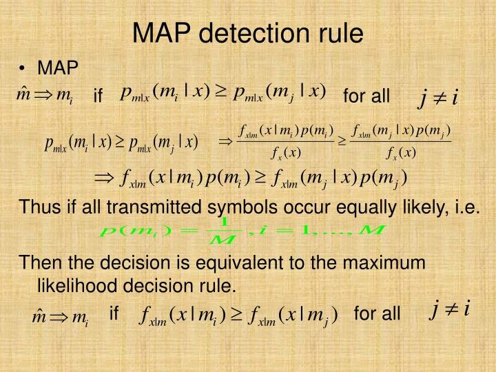 MAP detection rule