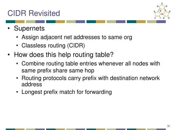 CIDR Revisited