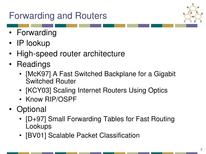 Forwarding and routers