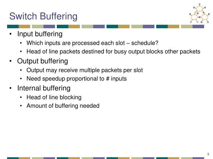 Switch Buffering