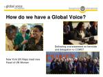 how do we have a global voice