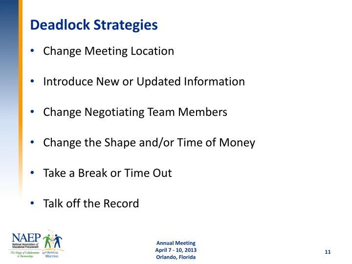 Deadlock Strategies