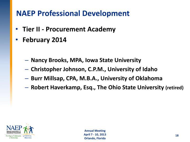 NAEP Professional Development