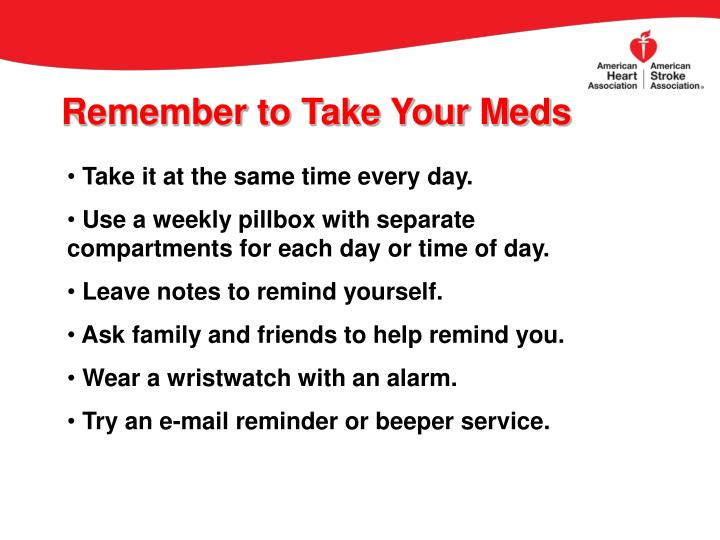 Remember to Take Your Meds