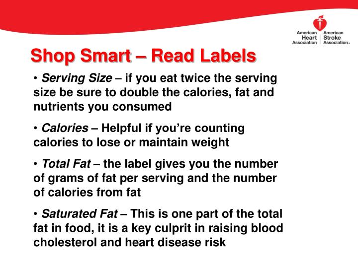 Shop Smart – Read Labels