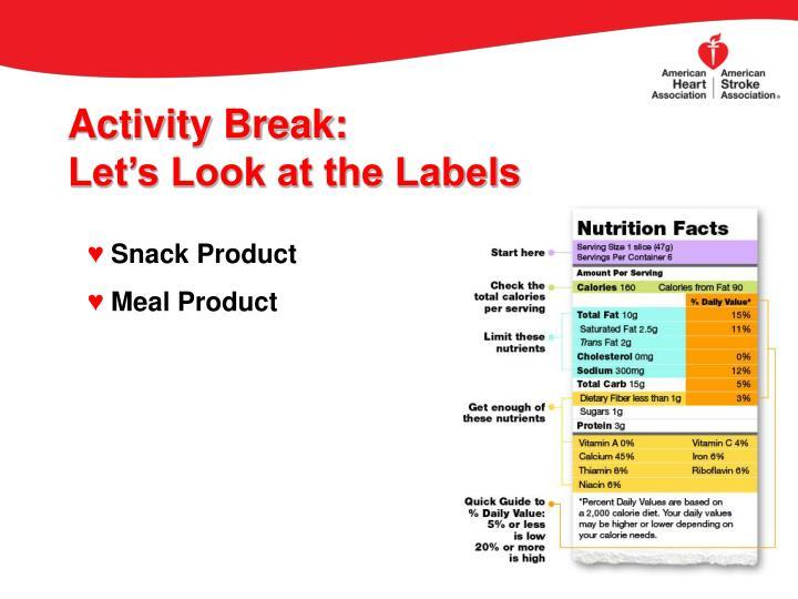 Activity Break: