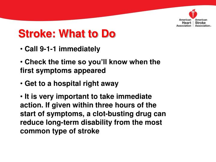 Stroke: What to Do