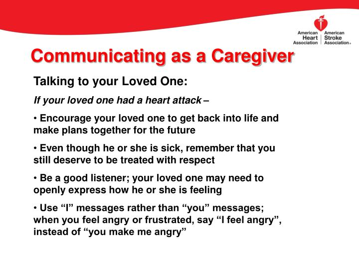 Communicating as a Caregiver