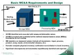 basic mc a requirements and design